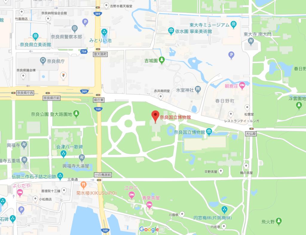 奈良国立博物館 地図