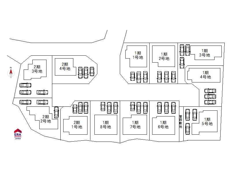 五条畑 区画図 オークホーム