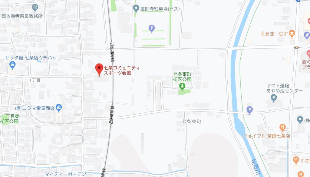 七条スポーツ会館 地図 奈良 オークホーム