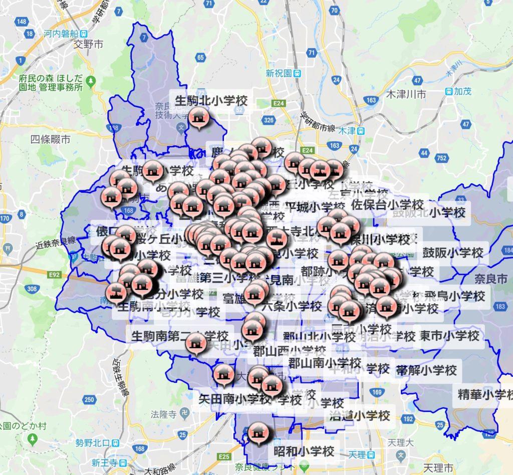 地図 物件検索 奈良 オークホーム